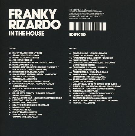 Defected Pres  Franky Rizardo in the House - Various: Amazon de: Musik