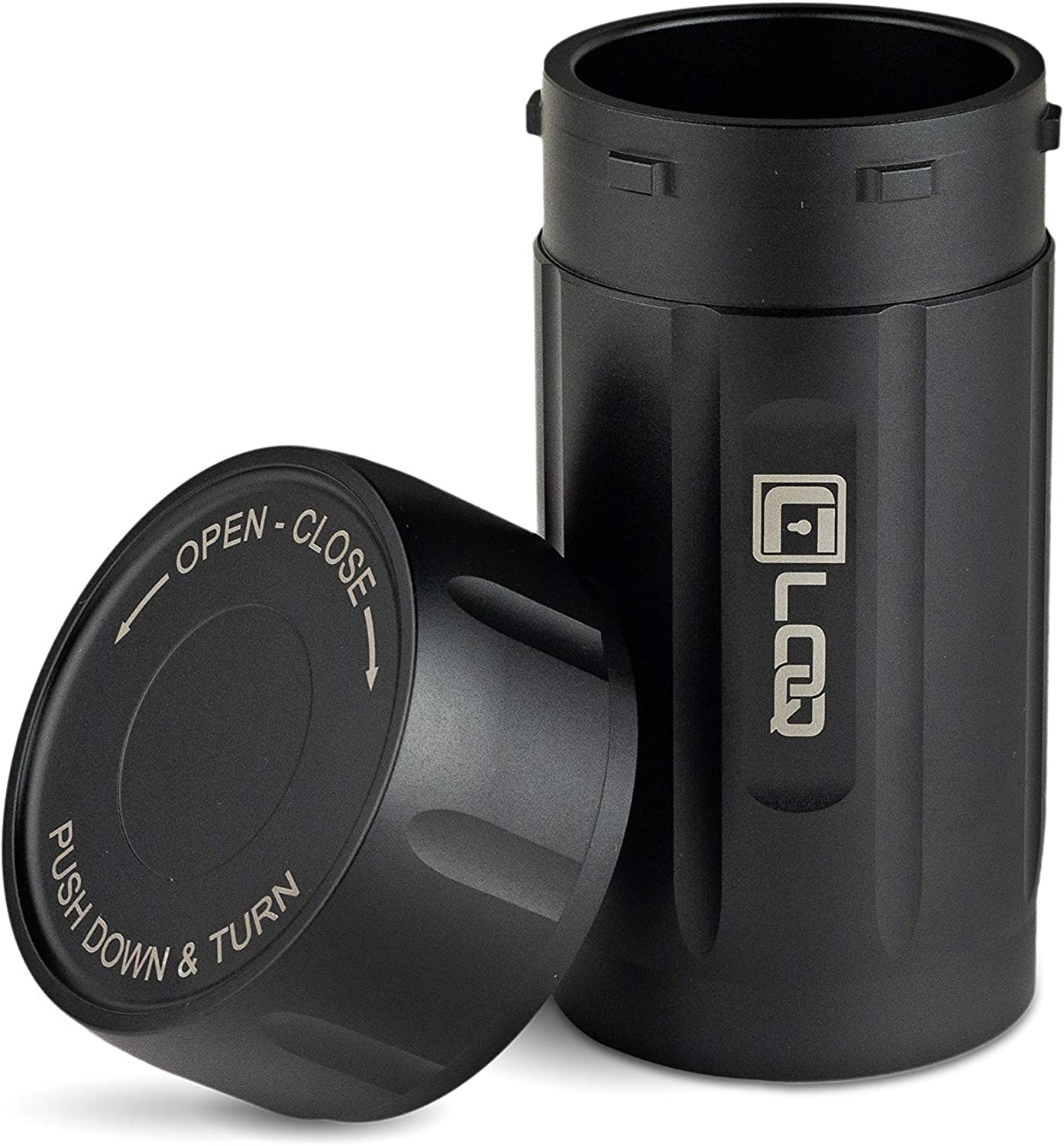 Canniloq – 120cc Onyx Black - Aircraft Grade Aluminum Odor Smell Proof Container and Airtight Locking Stash Jar for Herbs, Coffee, Spices, Tea and Other Dry Goods