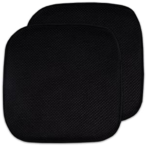 "2 Pack Memory Foam Honeycomb Nonslip Back 16"" x 16"" Chair/Seat Cushion Pad"