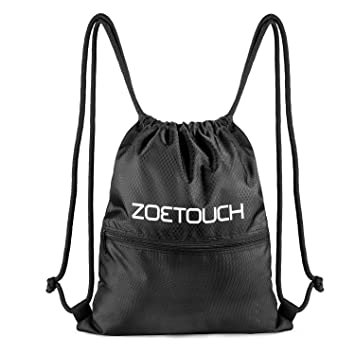 ZOETOUCH Cordón Mochila Bolsa Sackpack Impermeable Deporte Gimnasio Saco Bolsas de cuerdas Gymsack Backpack para Hombre y Mujer