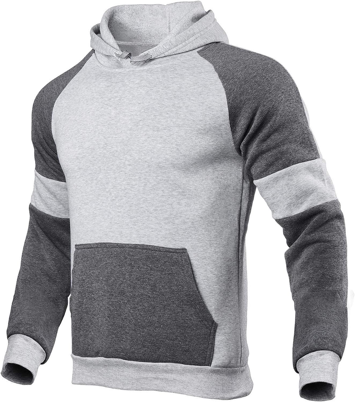 Men Track Suits Sets Color Block Hoodie Sweatshirt Joggers Sweatpants Casual Sportswear 2 Piece Sweatsuits