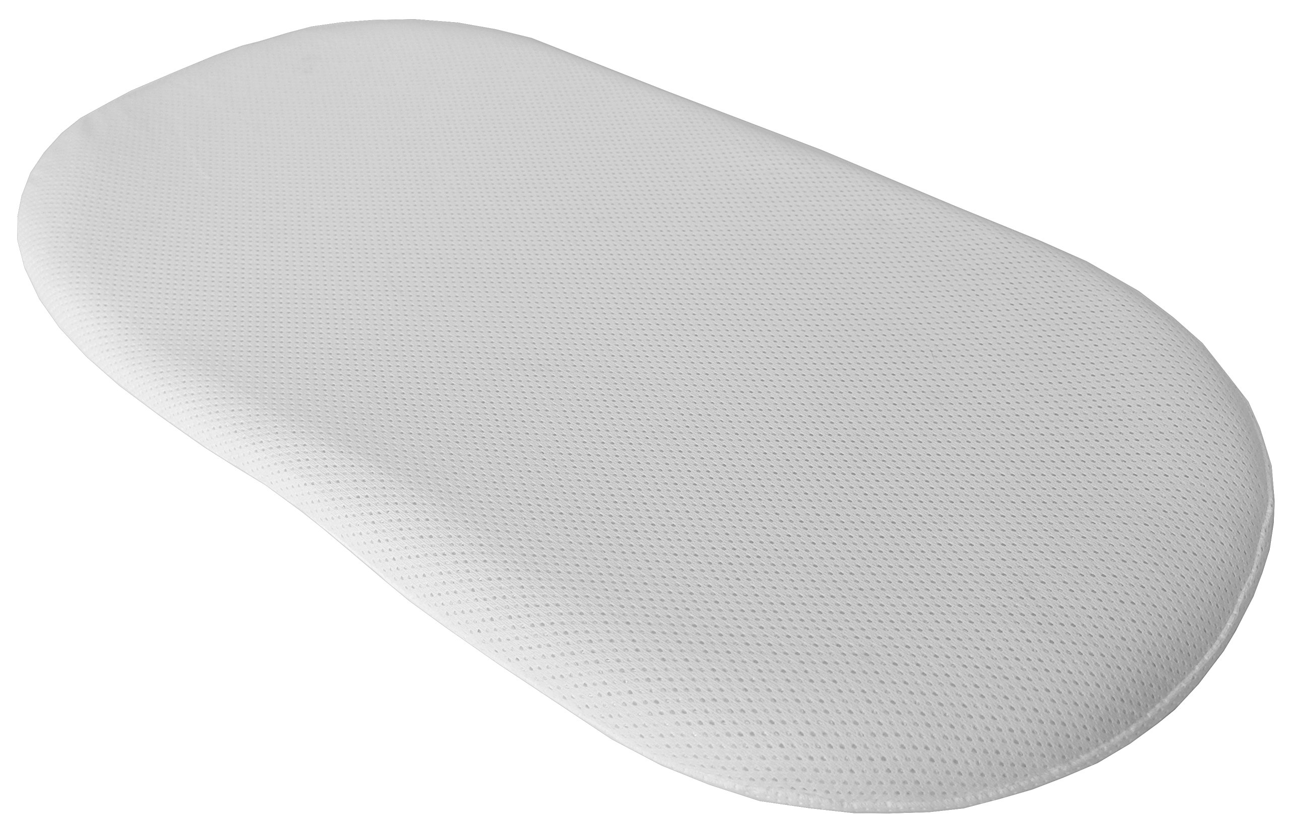 AirLoft Breathable Fitted Sheet for Baby Planet Oasis Bassinet (White)
