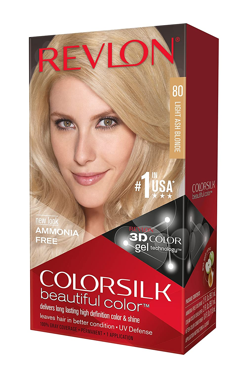 Revlon Medium Ash Blonde Revlon Colorsilk - 1 Application: Amazon ...