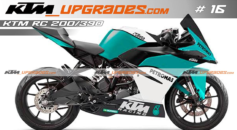 Ktmupgrades custom decal set 16 for ktm rc 125 200 390 amazon in car motorbike