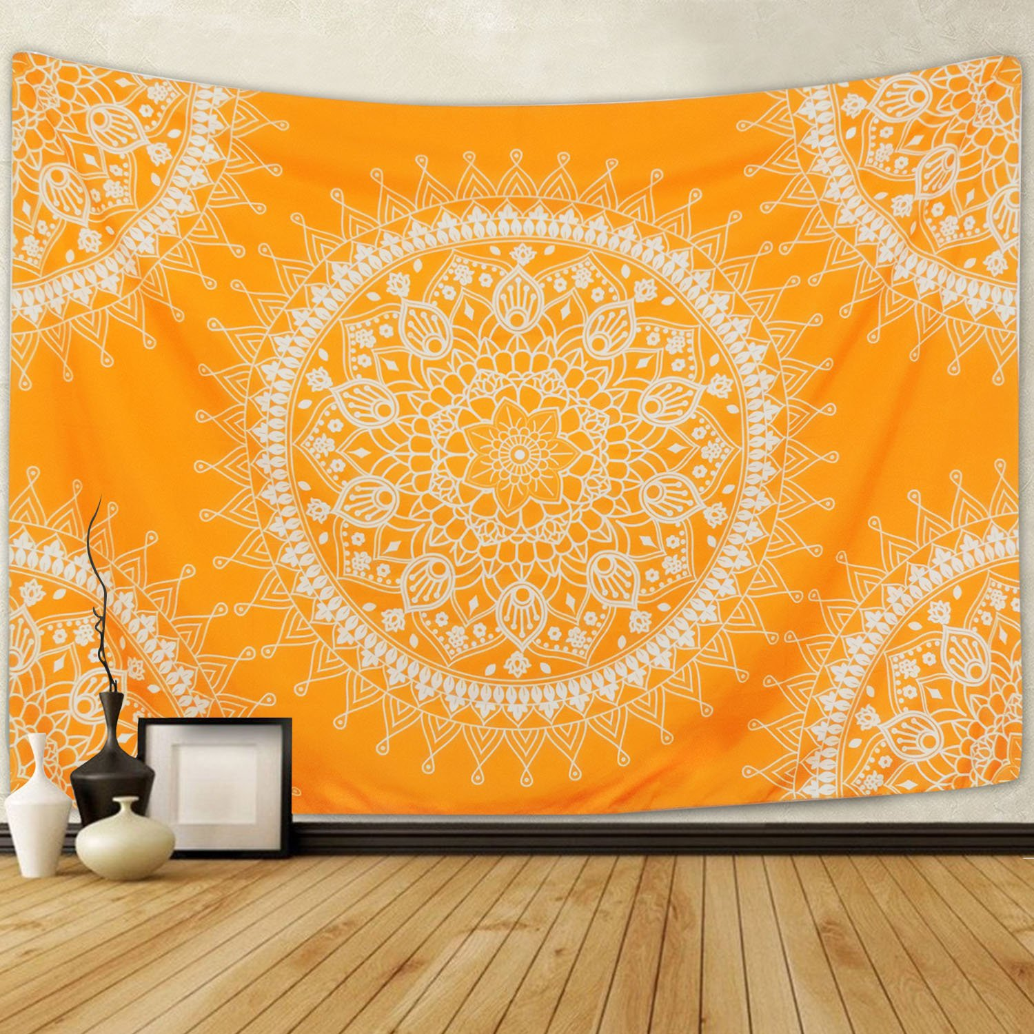 Amazon.com: SENGE Yellow Tapestry Mandala Hippie Bohemian Tapestries ...