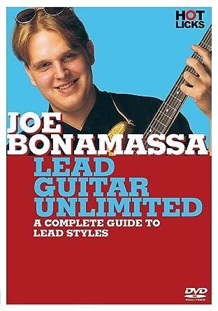 Amazon Joe Bonamassa Lead Guitar Unlimited Dvd Hot Licks