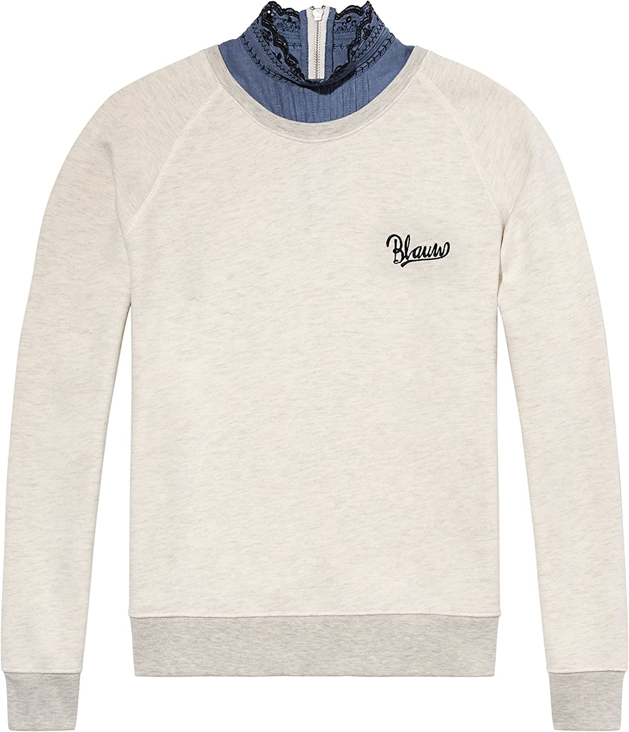 Scotch & Soda Super Soft Sweat with Woven Collar Sudadera para Mujer