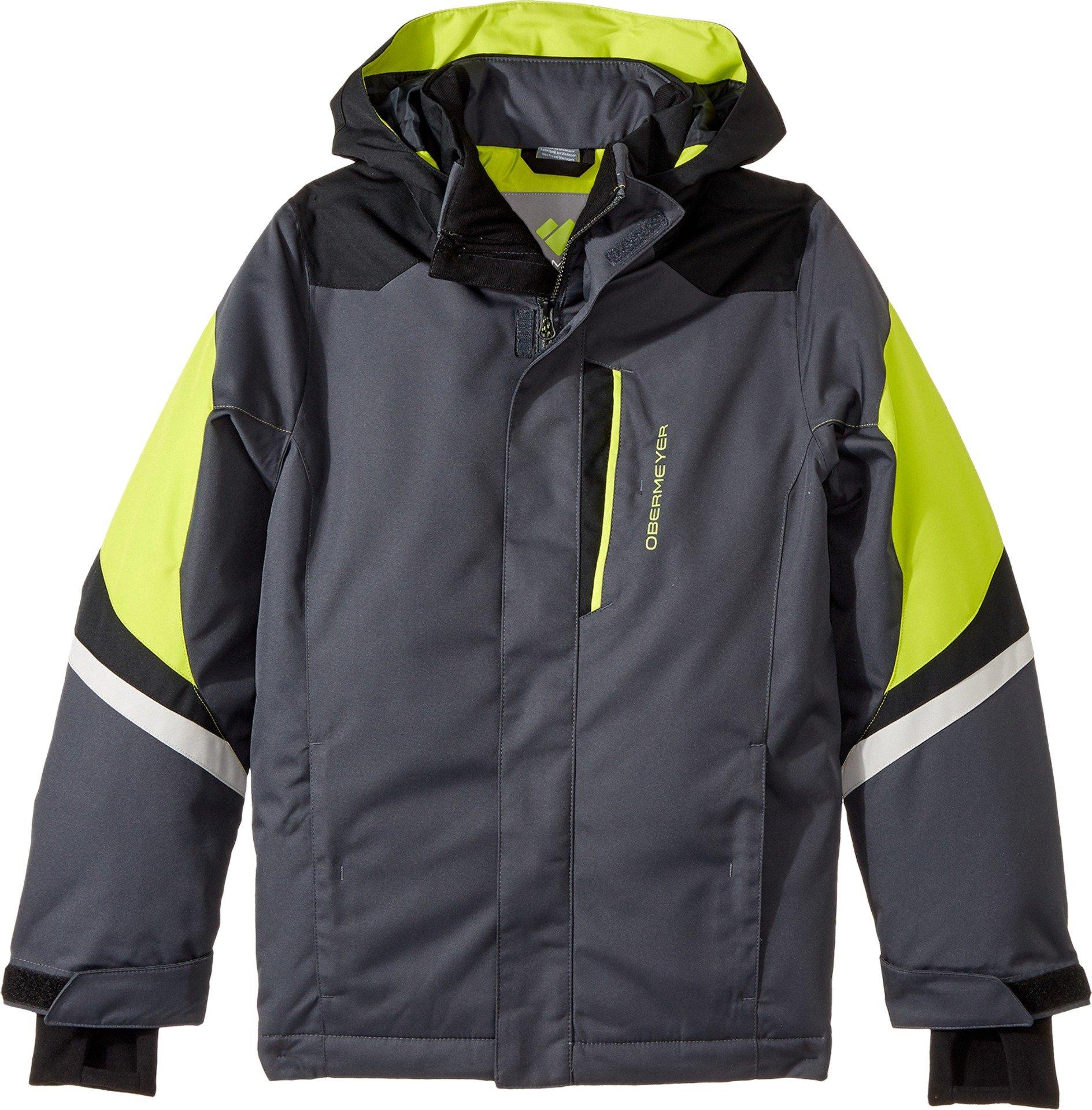 Obermeyer Kids  Boy's Fleet Jacket (Little Kids/Big Kids) Ebony X-Large