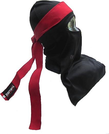 1 Size Senior Black Ninja Warrior Mask// Balaclava