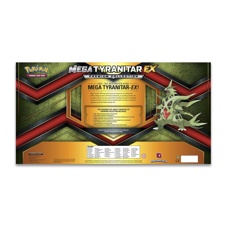 Versione Inglese Premium Collection Box Mega Tyranitar Ex Gioco di Carte collezionabili POK80296 Pok/émon