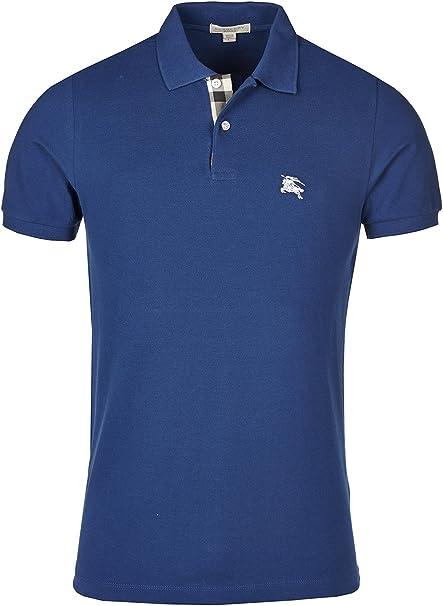 Burberry Brit Polo de Hombre - Bright Azul Marino - XL: Amazon.es ...