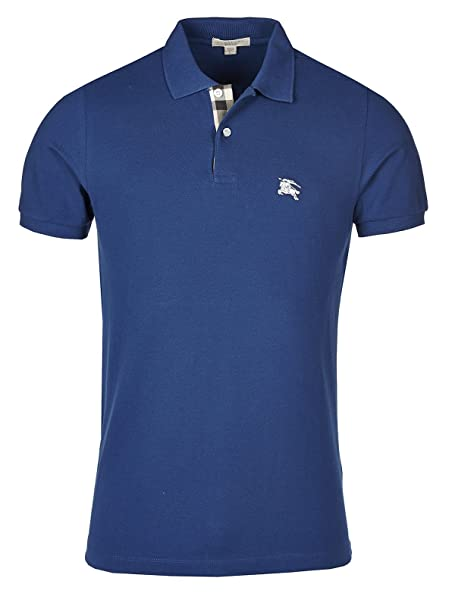 Burberry Brit Polo de Hombre - Bright Azul Marino - XL: Amazon.es ...