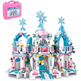 Friends Frozen Castle Building Kit Princess Magical Ice Palace Creative Toy Set for Girls 6-12, Best Learning and Roleplay ST