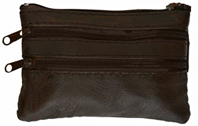 Amazon.com: Leather Change Purse Brown #92801: Shoes