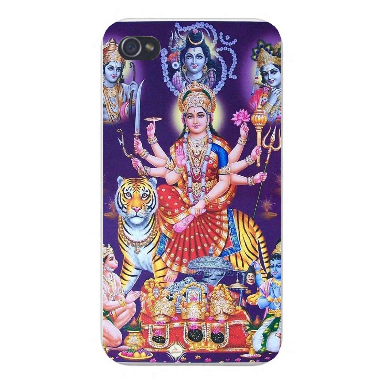 Apple iPhone Custom Case 5 5s and SE Snap on - Durga Maa, Hanuman Bhairav, Ram Krishna Shiva Hindu Deities