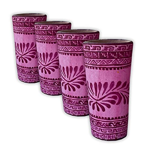 Color Rosa Set of 4 Hand painted Tequila Shot Glasses