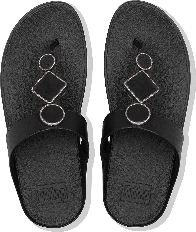FitFlop Sandales à talons en cuir pour femme Entièrement Noir