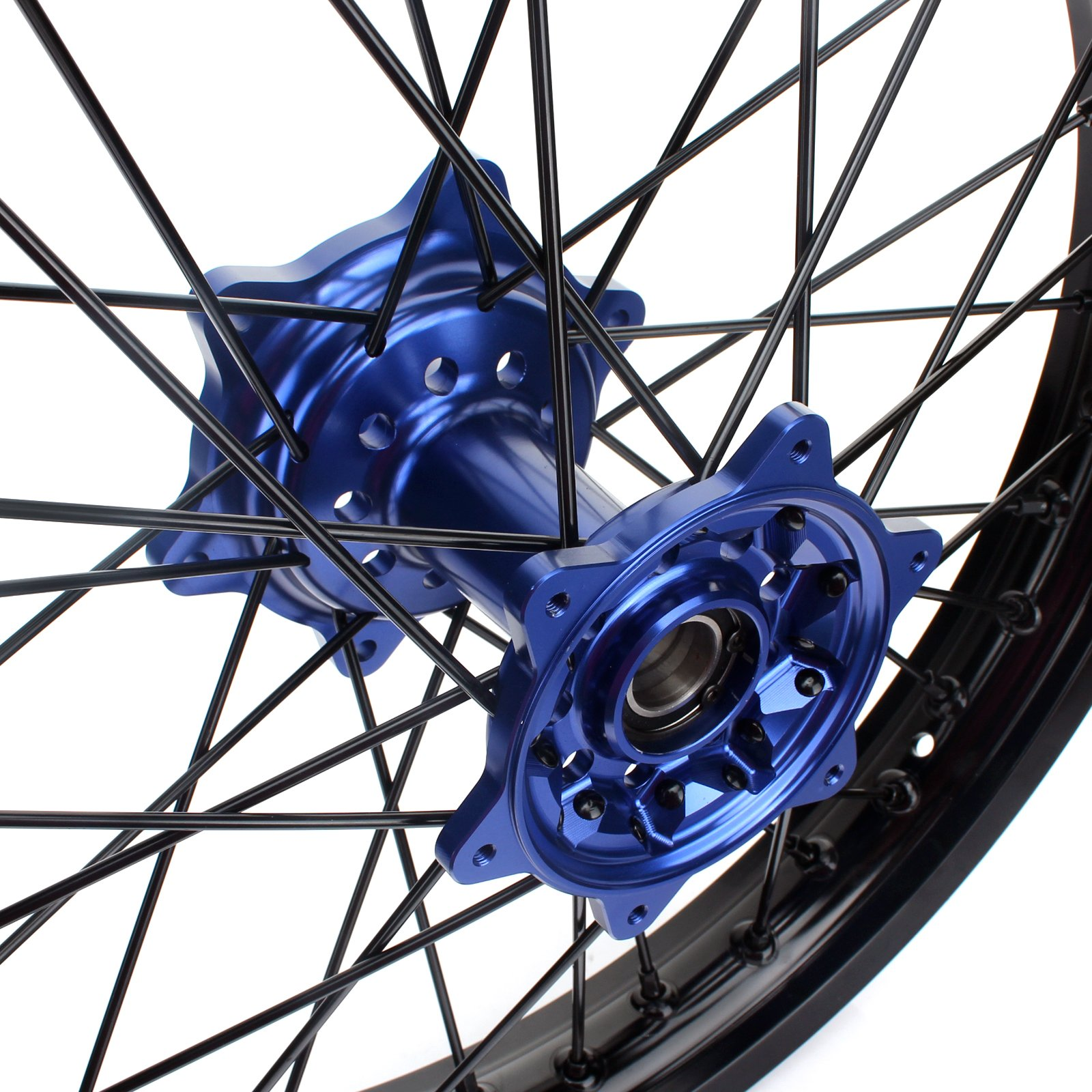TARAZON 18'' MX Rear Complete Wheel Set Rim Spokes Blue Hub for Yamaha YZ250F YZF250 YZ450F YZF450 2009-2017 by TARAZON (Image #2)