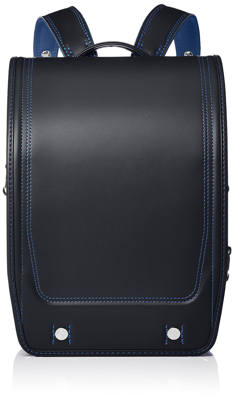 [フィットちゃん] フィットちゃんランドセル アスリートボーイ A4フラットファイル収納サイズ FIT-227Z B07BBD7VKT ブラック/ブルー