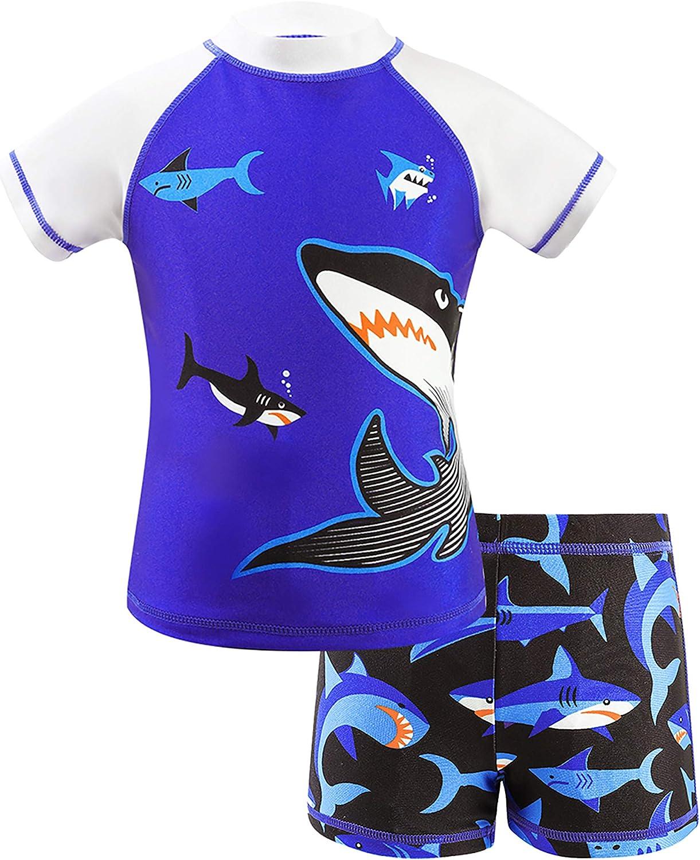 Alternative dealer Luxury goods IKALI Boys Two Pieces Swimsuit Rash Swim Guard Short f Set Trunk