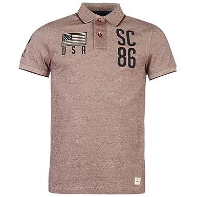 SoulCal Hombre SC86 Polo Camisa Ropa Casual Manga Corta Collar ...