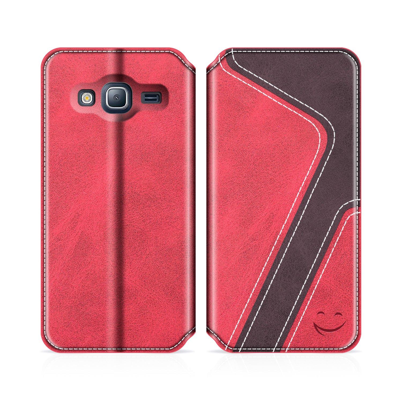f17182a75c1 Funda Cuero Movil Samsung J3 2016 Carcasa Case con Billetera/Soporte para Samsung  Galaxy J3 2016 MOBESV Smiley Funda Cartera ...