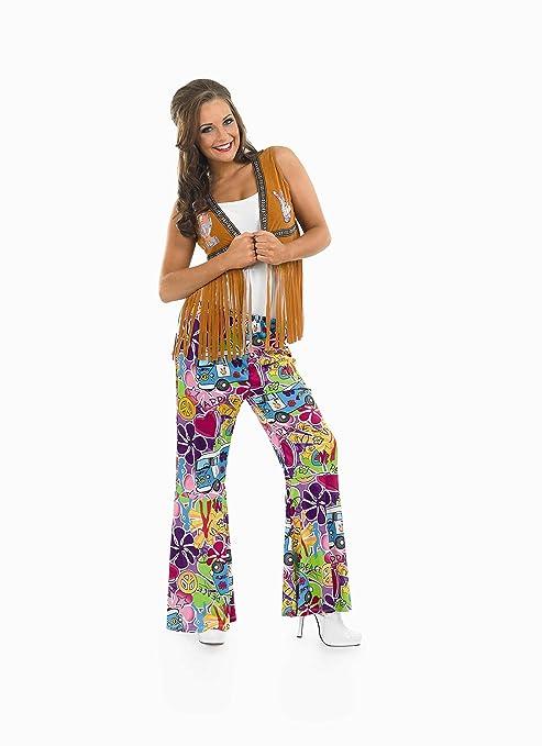 Chaqueta con flecos marrón hippie - S