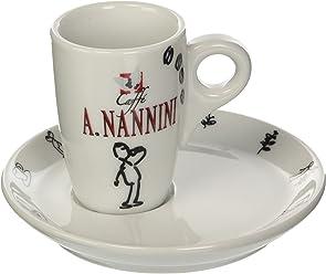 Caffè A. Nannini Tazza Collezione Bianca - 6 tazzine con piattino