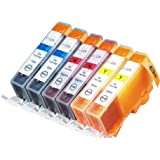 6 Pack Compatible Canon CLI-226 2 Cyan, 2 Magenta, 2 Yellow for use with Canon PIXMA iP4820, PIXMA iP4920, PIXMA iX6520, PIXMA MG5120, PIXMA MG5220, PIXMA MG5320, PIXMA MG6120, PIXMA MG6220, PIXMA MG8120, PIXMA MG8120B, PIXMA MG8220, PIXMA MX712, PIXMA MX882, PIXMA MX892. Ink Cartridges for inkjet printers. © Blake Printing Supply