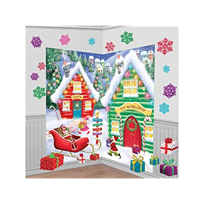 North Pole Wall Scene Setters Kit, 30 Ct. | Christmas Decoration: Toys & Games