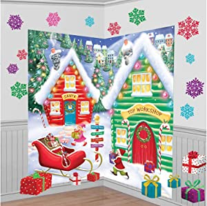 North Pole Wall Scene Setters Kit, 30 Ct. | Christmas Decoration