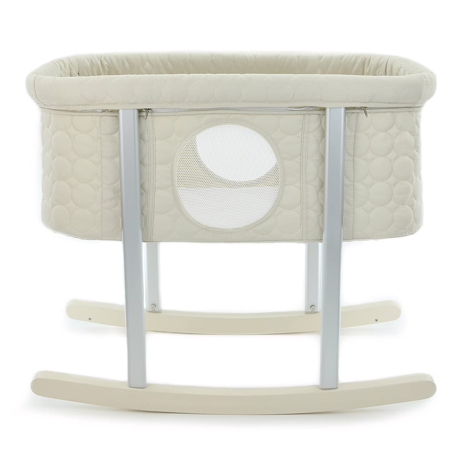 Baby Bassinet Cradle Includes Gentle Rocking Feature, Great for Newborns and Infants Safe Mattress Includes wheels for Easy Movement High End Washable Fabric Lightweight & Transportable (Grey) Green Frog