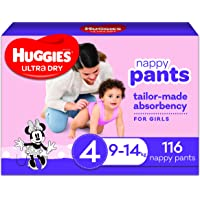 Ultra Dry Nappy Pants Girl Size 4 (9-14kg) 116 Count