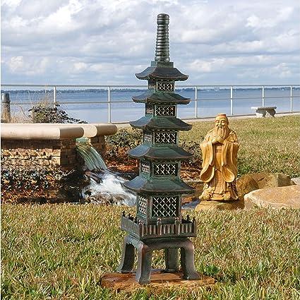 Superbe Asian Garden Pagoda Sculpture Statue