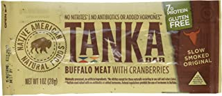 product image for Bison Pemmican Meat Bars with Buffalo & Cranberries by Tanka, Gluten Free, Beef Jerky Alternative, Slow Smoked Original, 1 Oz, Pack of 12
