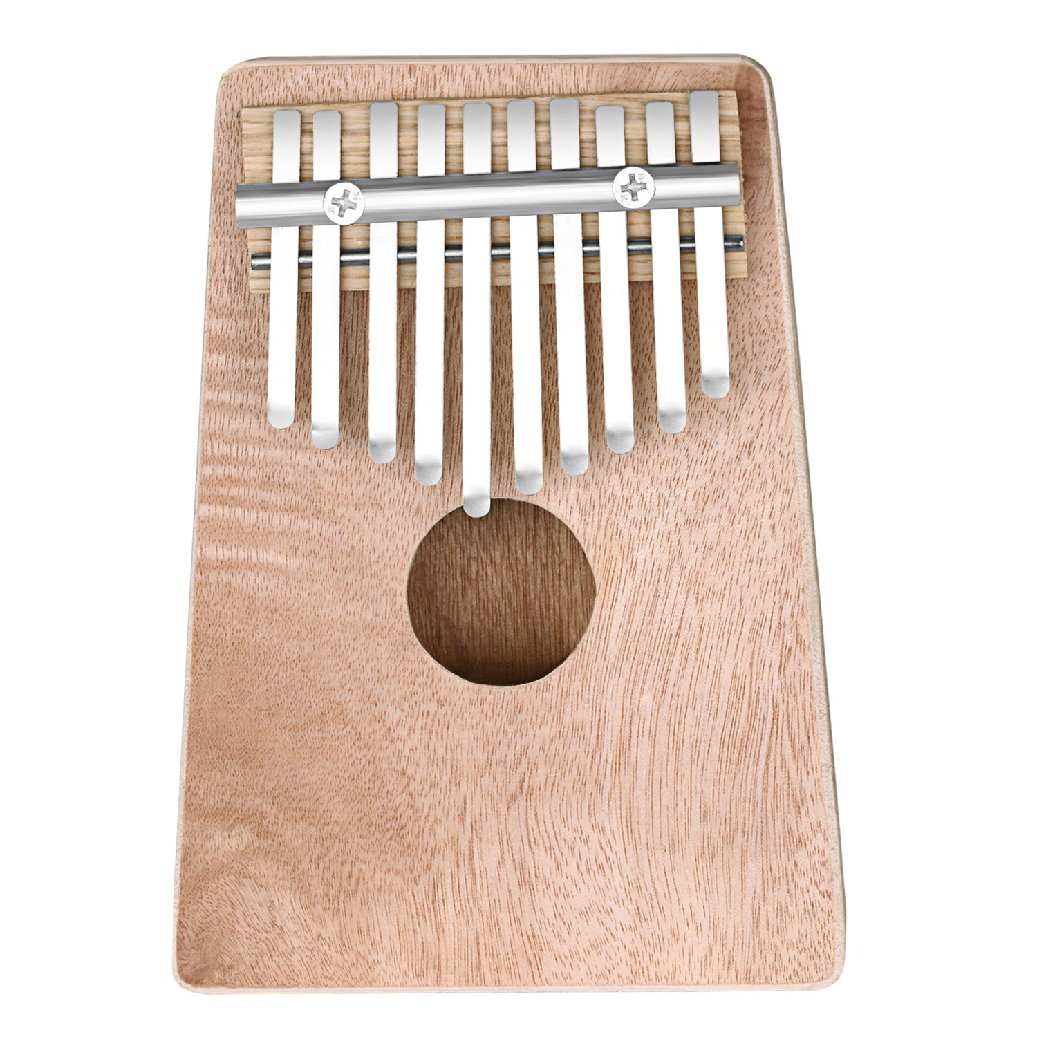 Neewer 10 Keys Hollow Pine Finger Thumb Piano Mbira, Portable 17x12.5x4 centimeters/6.7x 4.9x1.6 inches, Education Toy Musical Instrument for Music Lover (Wood Color) 40089021