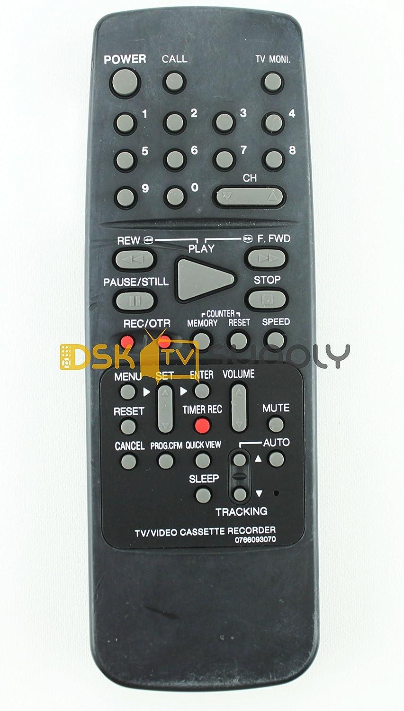 TVCR0950B Orion// Sansui 0766093070 TV//VCR Remote Control for COM0950 TVCR0950