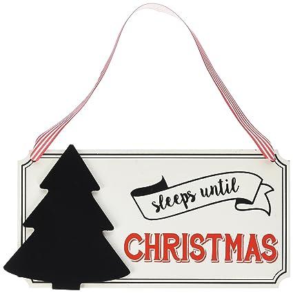 ginger ray vn 235 vintage noel sleeps until christmas hanging advent chalkboard sign multicolor - Sleeps Until Christmas
