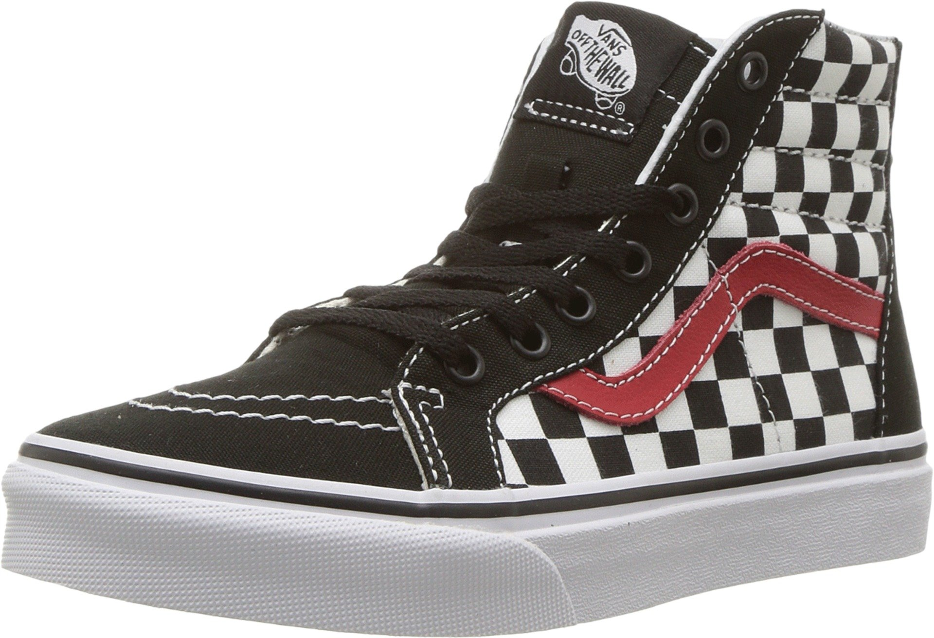 b618fc4a40 Galleon - Vans Kids K SK8-HI Zip Checkerboard Black RED White Size 13