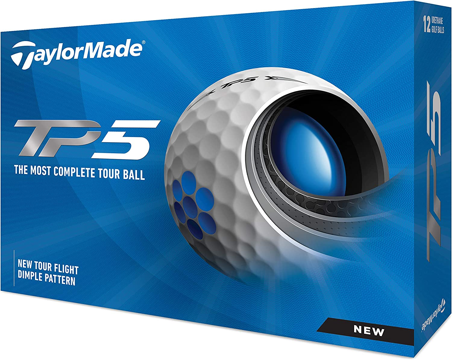 TaylorMade Unisex's TP5 Golf Size White Cheap mail order shopping Max 57% OFF One Balls