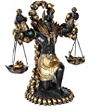 Ancient Egyptian God of Underworld Anubis Guardian of Scales Figurine 8.5 Inches (BLACK)