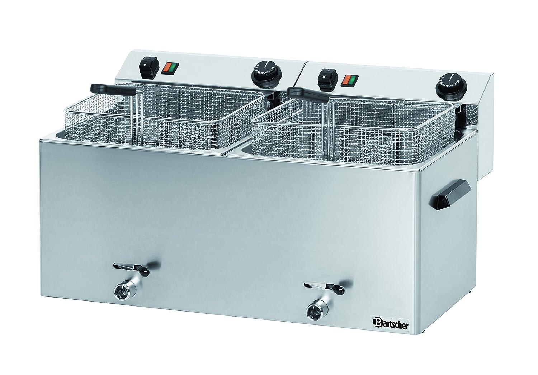 Bartscher 162910 Professional II - Freidora eléctrica doble con purgador de grasa: Amazon.es: Industria, empresas y ciencia