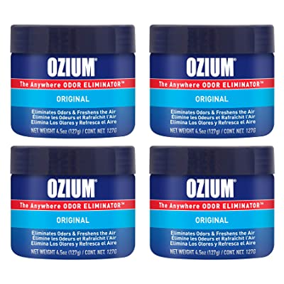 Ozium 4.5 Oz. 4 Pack Odor Eliminating Gel for Homes, Cars, Offices and More, Original Scent, 4 Pack: Automotive