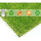 "BUNDMAN Artificial Grass Doormat Fake Lawn Kitchen Mat Synthetic Grass Pet Turf Outdoor Indoor Faux Grass Welcome Entrance Astro Grass for Garden Balcony Flooring 30mm Pile Height, 24""×18"""