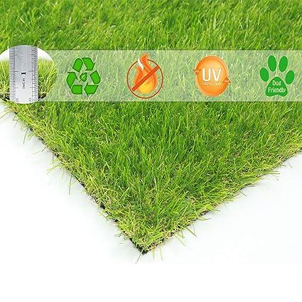 BUNDMAN Hierba Artificial Estera Alfombra de Hierba Exterior Interior Jardín de Césped Falso para Mascotas Perros vendidos Altura de la Pila 30 mm,24