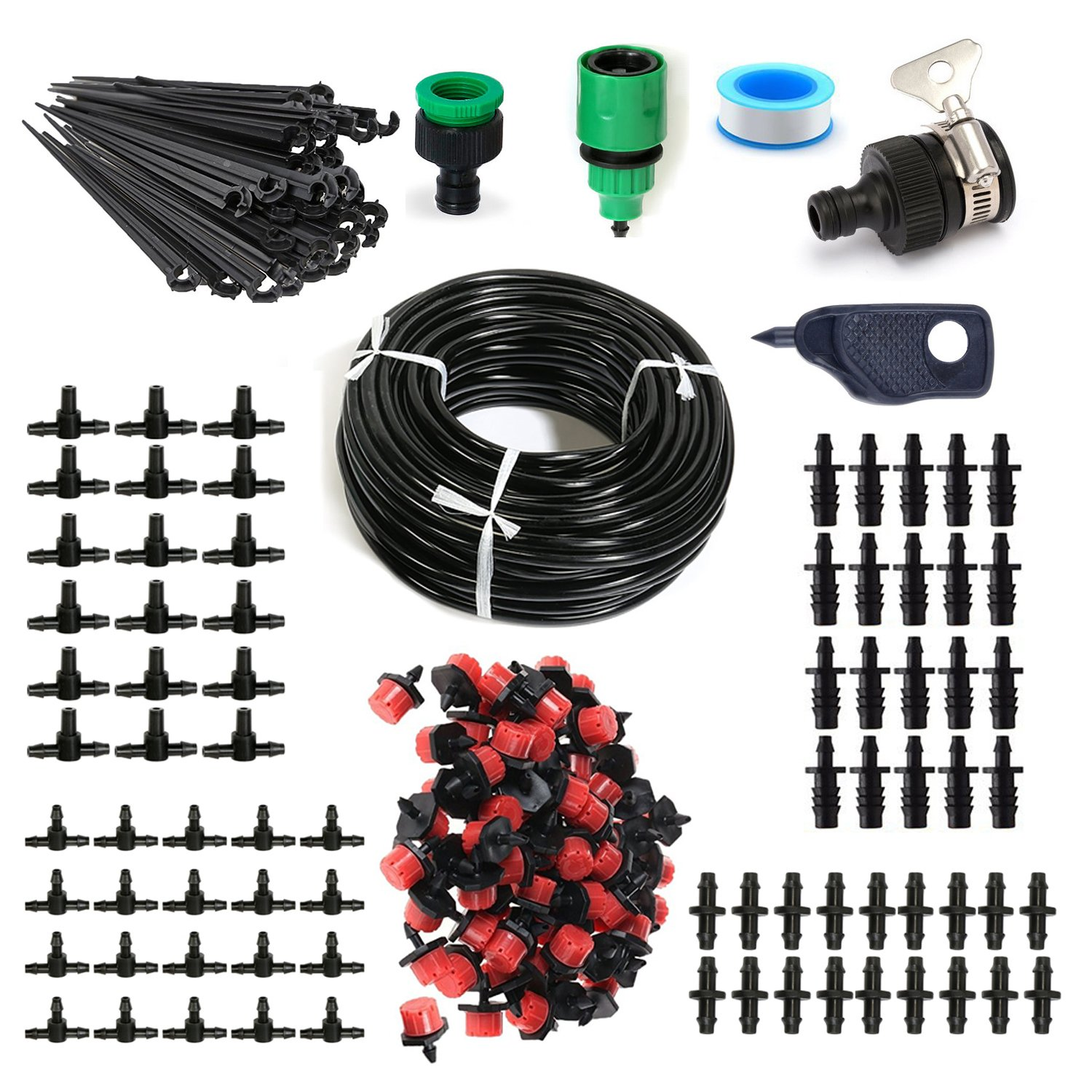 100ft 1/4'' Distribution Tubing Irrigation Micro Irrigation Drip System Garden, Lawn, Patio, Greenhouse Plants by rescozy