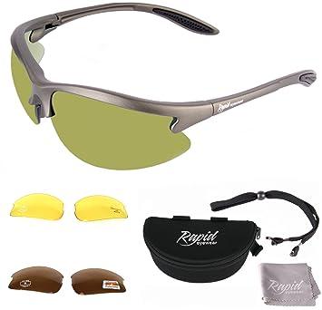 d2e8be225d94 Rapid Eyewear Polarised GOLF SUNGLASSES for Men   Women with  Interchangeable Green Mirror
