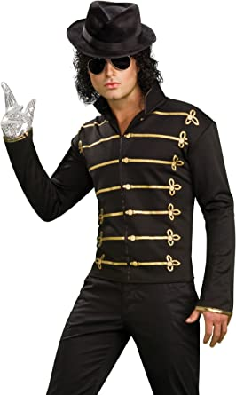 Michael Jackson Military Jacket Pullover Shirt Halloween Adult Mens Costume