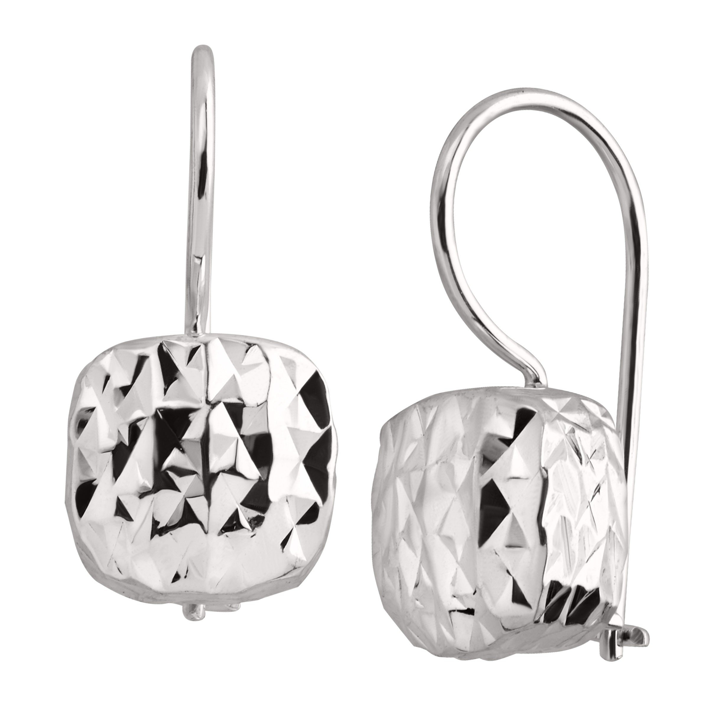Silpada 'Rounded Cube' Textured Sterling Silver Drop Earrings