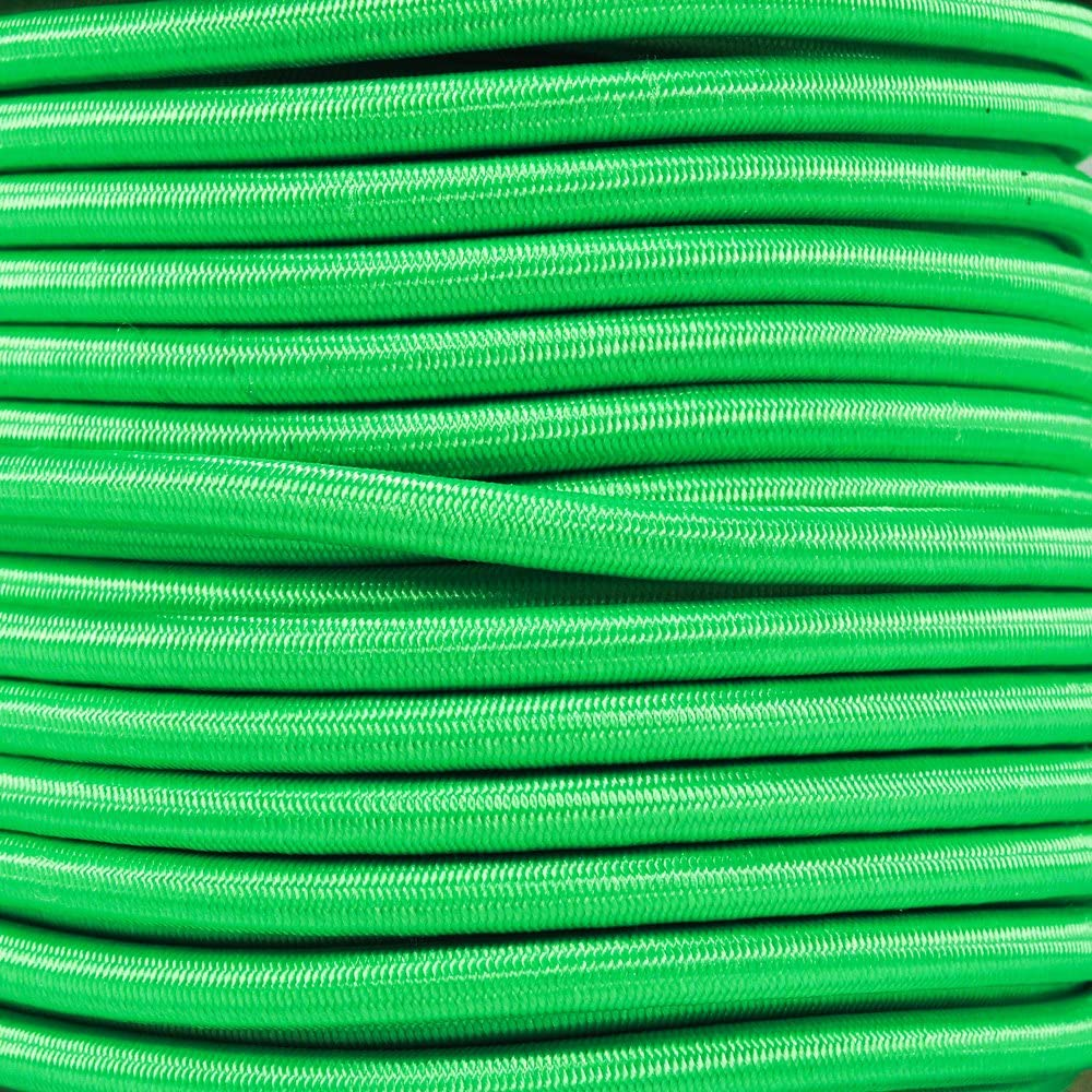 West Coast Paracord Bungee Elastic Nylon Shock Cord 1//4 Inch x 50 Feet, Neon Green